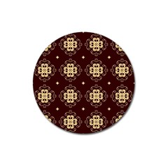 Seamless Ornament Symmetry Lines Magnet 3  (round) by Simbadda
