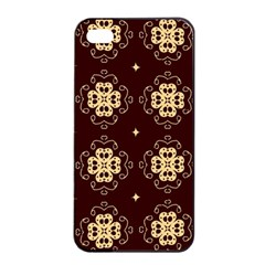 Seamless Ornament Symmetry Lines Apple Iphone 4/4s Seamless Case (black) by Simbadda