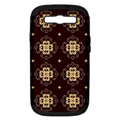 Seamless Ornament Symmetry Lines Samsung Galaxy S Iii Hardshell Case (pc+silicone) by Simbadda