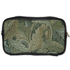 Vintage Background Green Leaves Toiletries Bags 2 Side by Simbadda