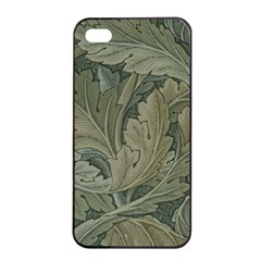 Vintage Background Green Leaves Apple iPhone 4/4s Seamless Case (Black)