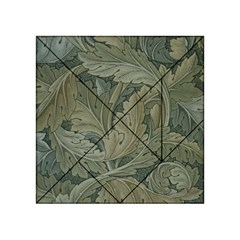 Vintage Background Green Leaves Acrylic Tangram Puzzle (4  x 4 )