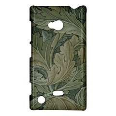 Vintage Background Green Leaves Nokia Lumia 720 by Simbadda