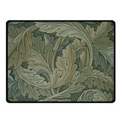 Vintage Background Green Leaves Double Sided Fleece Blanket (Small)  by Simbadda
