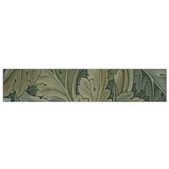 Vintage Background Green Leaves Flano Scarf (small) by Simbadda