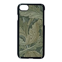 Vintage Background Green Leaves Apple Iphone 7 Seamless Case (black) by Simbadda