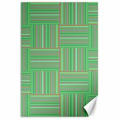 Geometric Pinstripes Shapes Hues Canvas 24  x 36  by Simbadda