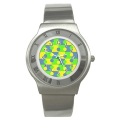 Abric Cotton Bright Blue Lime Stainless Steel Watch by Simbadda