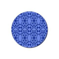 Floral Ornament Baby Boy Design Retro Pattern Rubber Coaster (round)