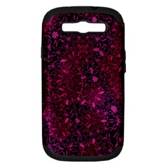 Retro Flower Pattern Design Batik Samsung Galaxy S III Hardshell Case (PC+Silicone)