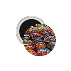 Art Background Bowl Ceramic Color 1.75  Magnets by Simbadda
