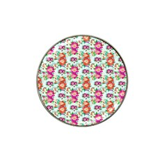 Floral Flower Pattern Seamless Hat Clip Ball Marker (10 Pack) by Simbadda