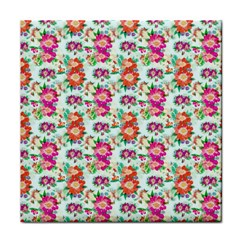 Floral Flower Pattern Seamless Face Towel