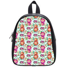 Floral Flower Pattern Seamless School Bags (small)  by Simbadda