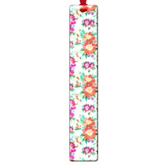 Floral Flower Pattern Seamless Large Book Marks by Simbadda