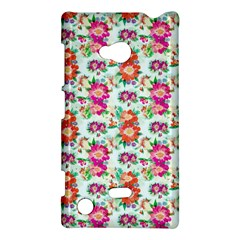 Floral Flower Pattern Seamless Nokia Lumia 720 by Simbadda