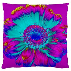 Retro Colorful Decoration Texture Large Cushion Case (two Sides) by Simbadda