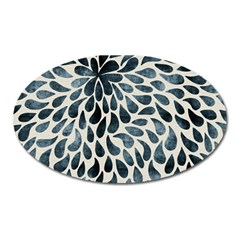 Abstract Flower Petals Floral Oval Magnet by Simbadda