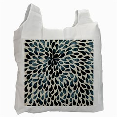 Abstract Flower Petals Floral Recycle Bag (one Side) by Simbadda
