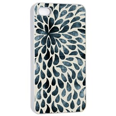 Abstract Flower Petals Floral Apple Iphone 4/4s Seamless Case (white)
