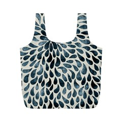 Abstract Flower Petals Floral Full Print Recycle Bags (m)  by Simbadda