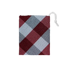 Textile Geometric Retro Pattern Drawstring Pouches (small)  by Simbadda