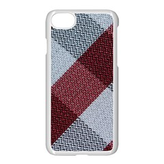 Textile Geometric Retro Pattern Apple iPhone 7 Seamless Case (White) by Simbadda