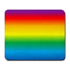 Rainbow Background Colourful Large Mousepads by Simbadda