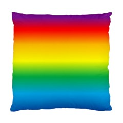 Rainbow Background Colourful Standard Cushion Case (two Sides) by Simbadda