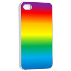 Rainbow Background Colourful Apple Iphone 4/4s Seamless Case (white) by Simbadda
