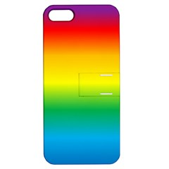 Rainbow Background Colourful Apple Iphone 5 Hardshell Case With Stand by Simbadda