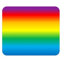 Rainbow Background Colourful Double Sided Flano Blanket (small)  by Simbadda