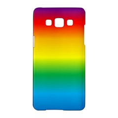 Rainbow Background Colourful Samsung Galaxy A5 Hardshell Case  by Simbadda