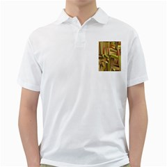 Earth Tones Geometric Shapes Unique Golf Shirts by Simbadda