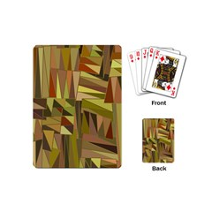 Earth Tones Geometric Shapes Unique Playing Cards (mini)  by Simbadda