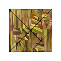 Earth Tones Geometric Shapes Unique Acrylic Tangram Puzzle (4  X 4 ) by Simbadda