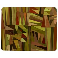 Earth Tones Geometric Shapes Unique Jigsaw Puzzle Photo Stand (rectangular) by Simbadda