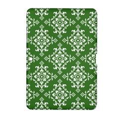 St Patrick S Day Damask Vintage Green Background Pattern Samsung Galaxy Tab 2 (10 1 ) P5100 Hardshell Case  by Simbadda
