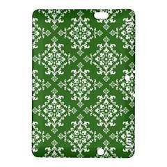 St Patrick S Day Damask Vintage Green Background Pattern Kindle Fire Hdx 8 9  Hardshell Case by Simbadda