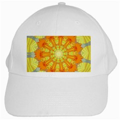 Sunshine Sunny Sun Abstract Yellow White Cap
