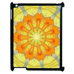 Sunshine Sunny Sun Abstract Yellow Apple iPad 2 Case (Black) by Simbadda