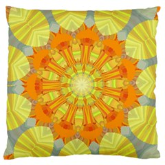 Sunshine Sunny Sun Abstract Yellow Standard Flano Cushion Case (two Sides) by Simbadda