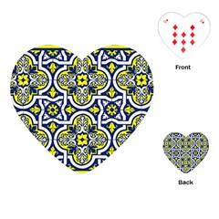 Tiles Panel Decorative Decoration Playing Cards (heart)  by Simbadda