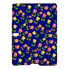 Flowers Roses Floral Flowery Blue Background Samsung Galaxy Tab S (10 5 ) Hardshell Case