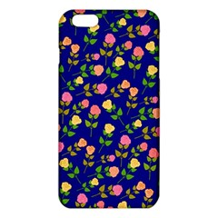 Flowers Roses Floral Flowery Blue Background Iphone 6 Plus/6s Plus Tpu Case by Simbadda