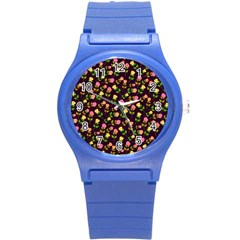 Flowers Roses Floral Flowery Round Plastic Sport Watch (s) by Simbadda