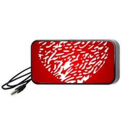 Heart Design Love Red Portable Speaker (black) by Simbadda
