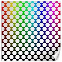 Half Circle Canvas 16  X 16   by Simbadda