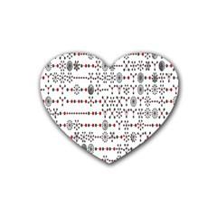 Bioplex Random Kimia Circle Grey Red Heart Coaster (4 Pack)  by Alisyart