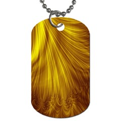 Flower Gold Hair Dog Tag (two Sides) by Alisyart